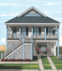 Bayville1 Ranch Exterior Artists Rendering Modular Home By Patriot
