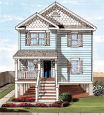 Beach Haven 2 Exterior Artists Rendering Modular Home By Patriot