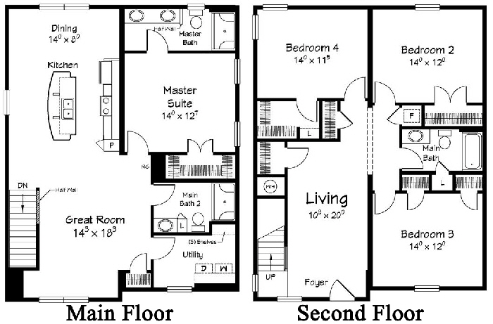 Beach Haven 2 Two Story  Modular Home Floor Plan Designed For Coastal Communities