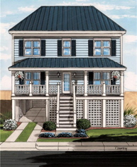 Barnegat1 Two Story Exterior Artists Rendering Modular Home By Patriot