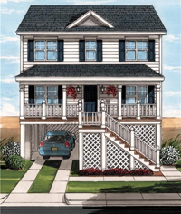 Boardwalk 2 Exterior Artists Rendering Modular Home By Patriot