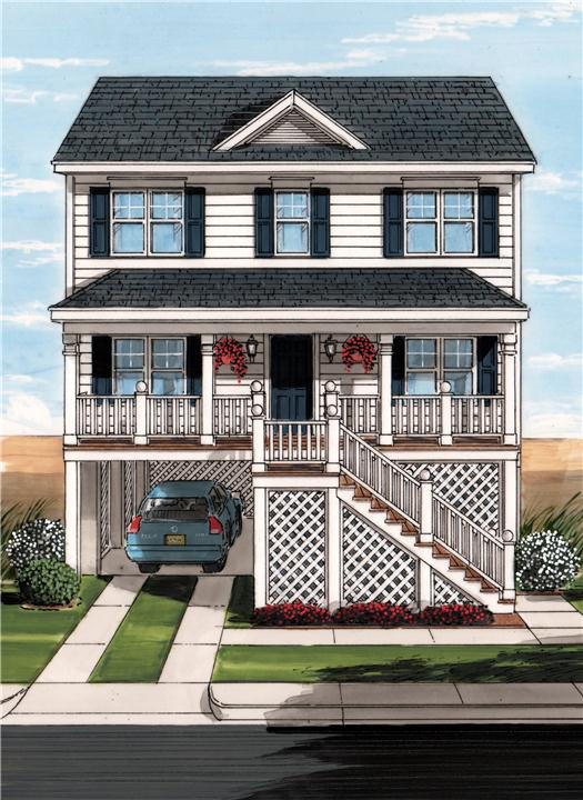 Restore the shore collection by ritz craft custom homes for Coastal modular home plans