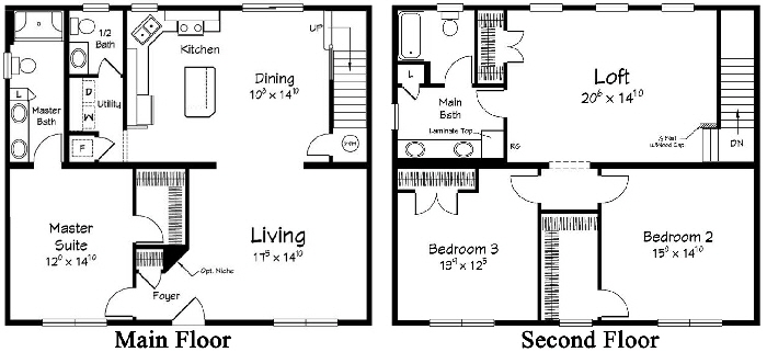 Boardwalk 2 Two Story  Modular Home Floor Plan Designed For Coastal Communities