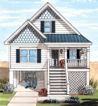 Dolphin 1 Cape Exterior Artists Rendering Modular Home By Patriot