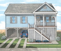 Sailview1 Ranch Exterior Artists Rendering Modular Home By Patriot