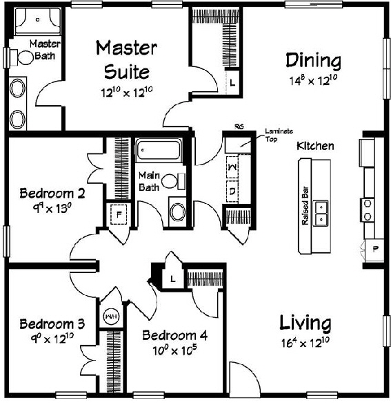 Sailview 1 Ranch  Modular Home Floor Plan Designed For Coastal Communities