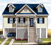 Sailview 2 Cape Exterior Artists Rendering Modular Home By Patriot