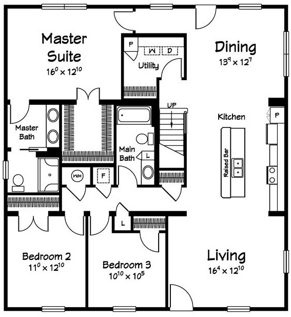 Sailview 2 ICape  Modular Home Floor Plan Designed For Coastal Communities