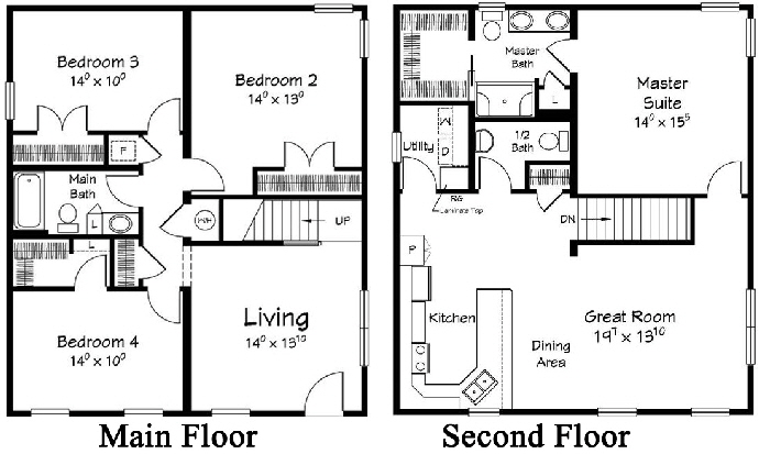 Sea Gull 1 Two Story  Modular Home Floor Plan Designed For Coastal Communities