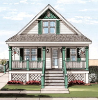 Spinnaker1 Cape Exterior Artists Rendering Modular Home By Patriot