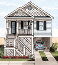 Surfside1 Ranch Exterior Artists Rendering Modular Home By Patriot
