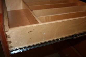 Pennwest Homes Custom Cabinets Dove Tail Drawer Ball Bearing Guides