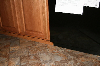 Pennwest Homes Custom Cabinets Recessed Toe-Kick